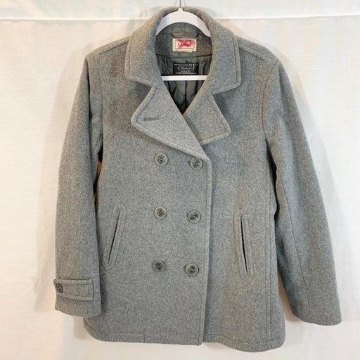 LL Bean Bellandi Pea Coat Jacket Quilted