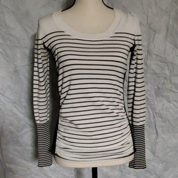 Takeout gray & white striped sweater
