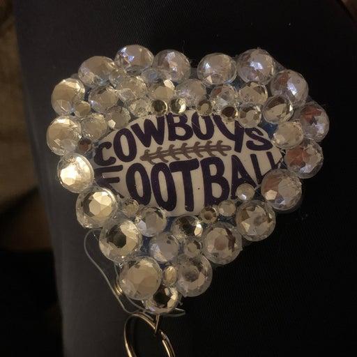 Cowboys football Badge Holder