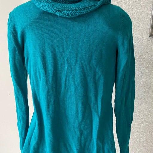 MK Aqua Knit Cowl Neck Sweater sz S