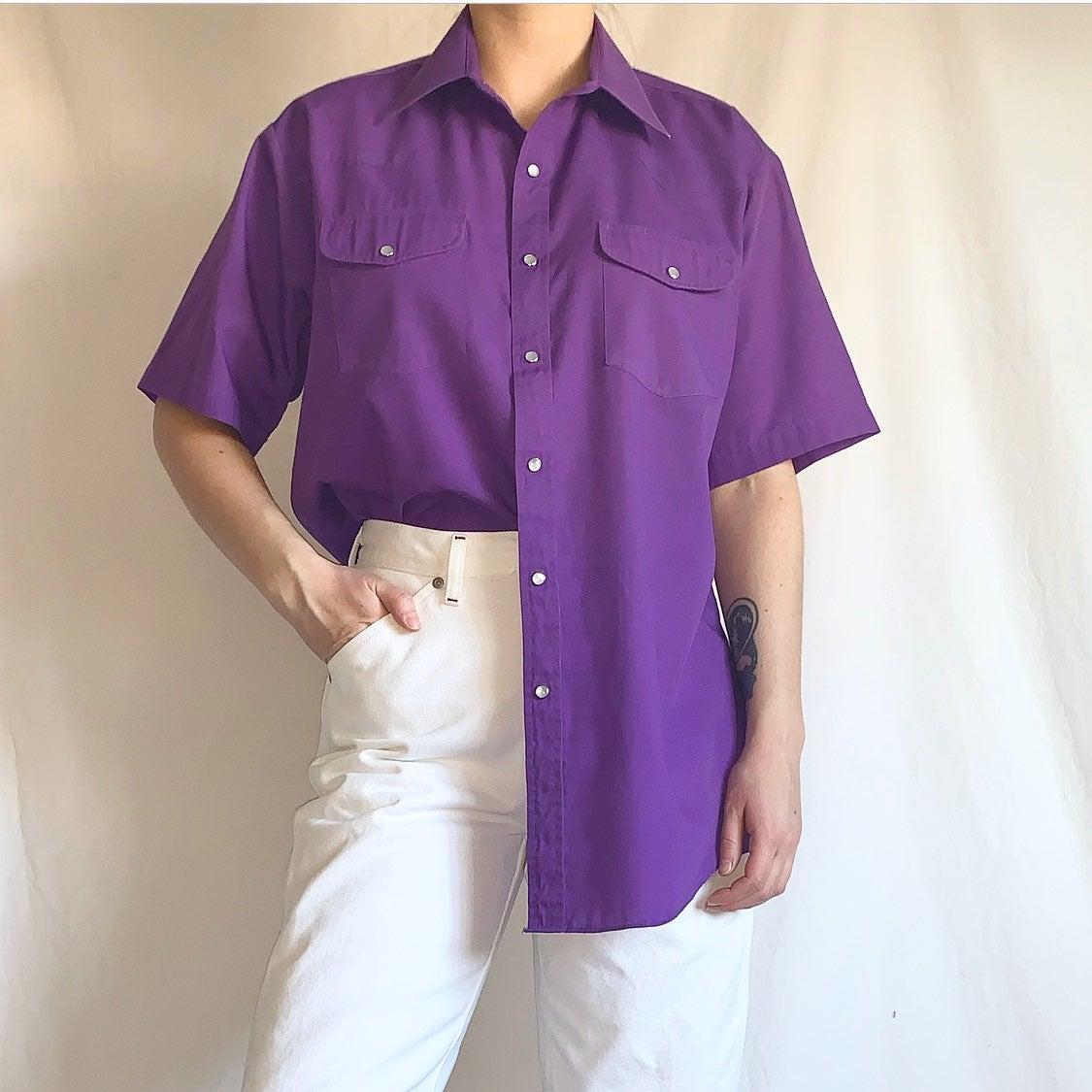 Vintage 90s Purple Western Shirt