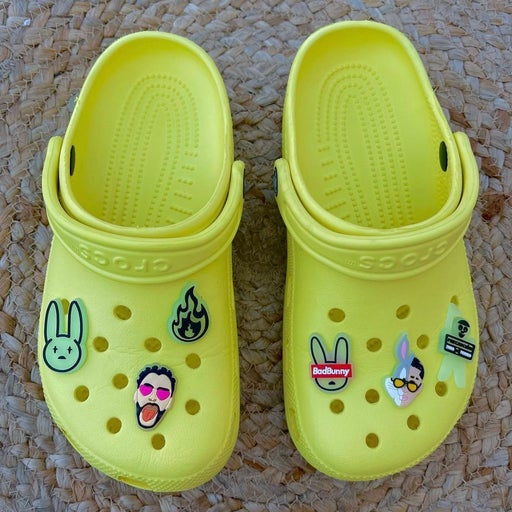 Bad bunny glow in the dark croc charms