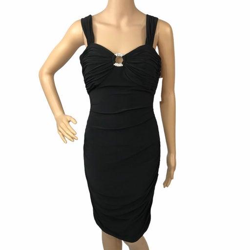Nwt morgan co knee length black dress