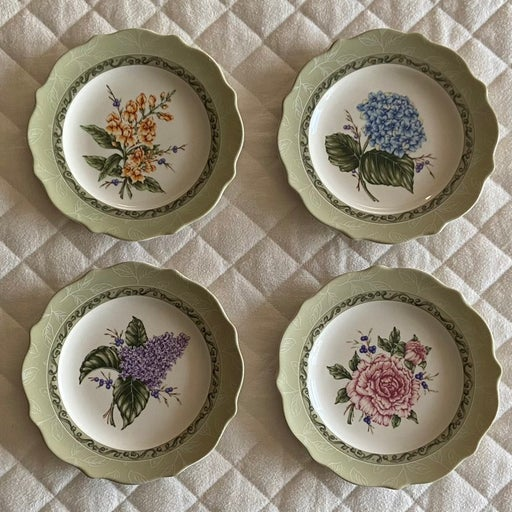 Princess House, Vintage Garden Floral Plates Set