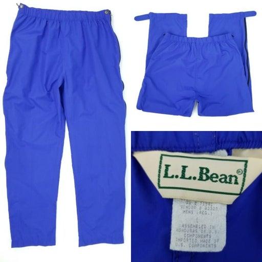 90s LL Bean Nylon Zip Legs Pants L 32x28