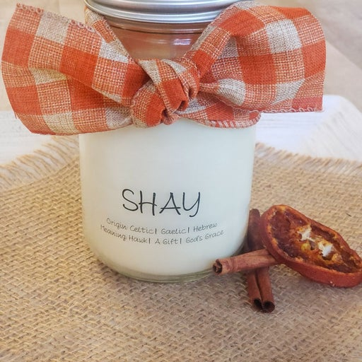 Personalized Name Meaning Candle