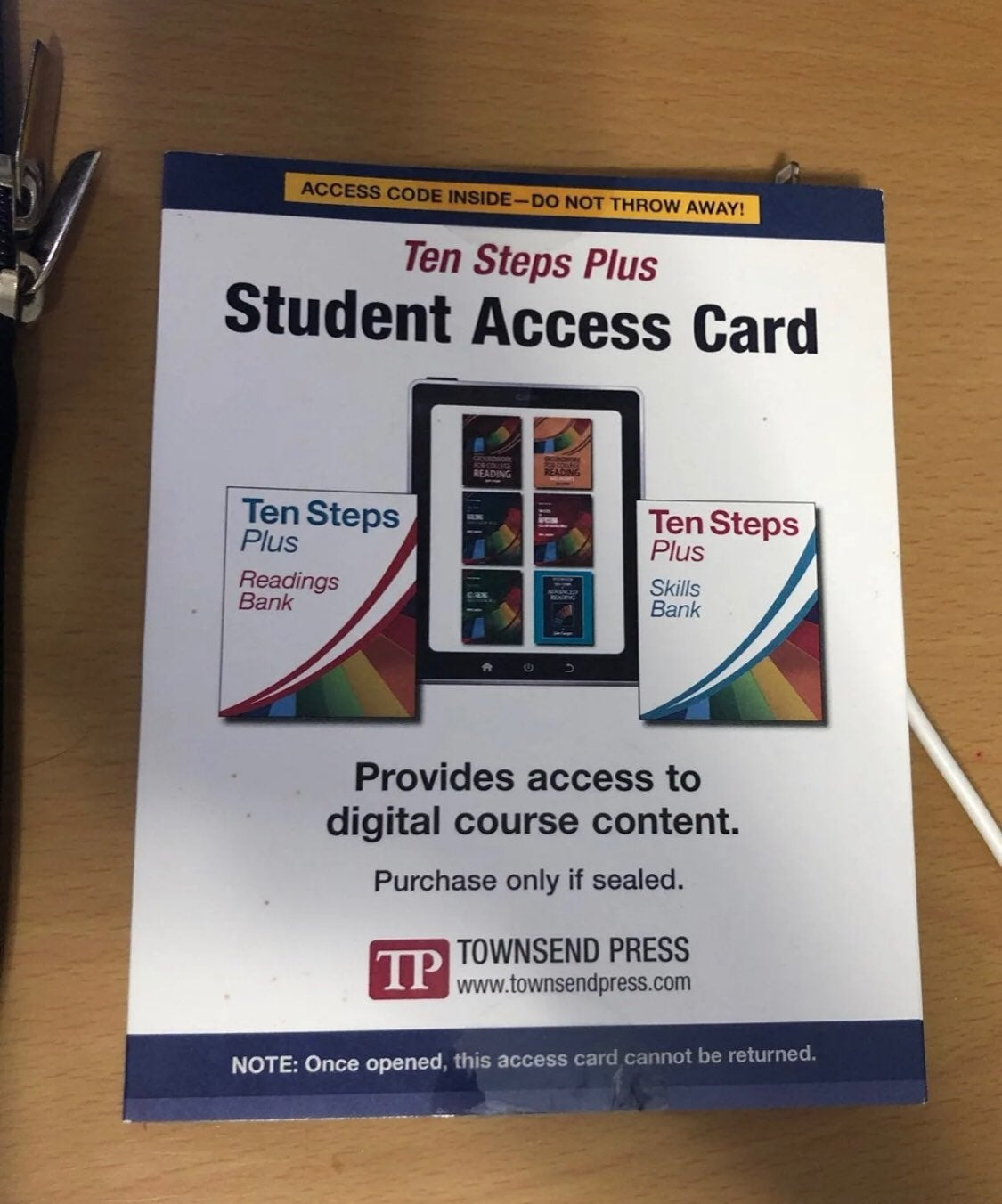 Ten Steps Plus Student Access Card