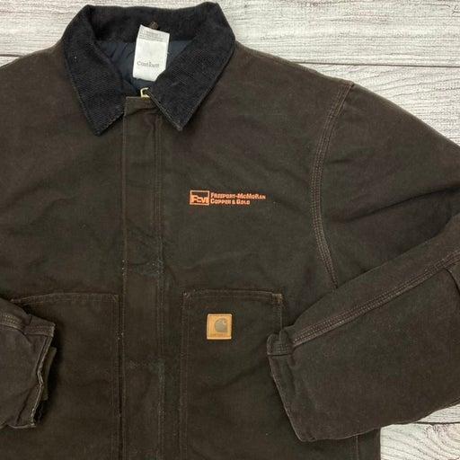Brown Carhartt Denim Work Jacket