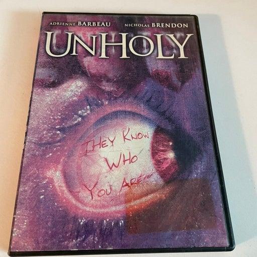 UNHOLY DVD Adrienne Barbeau / Nicholas Brendon