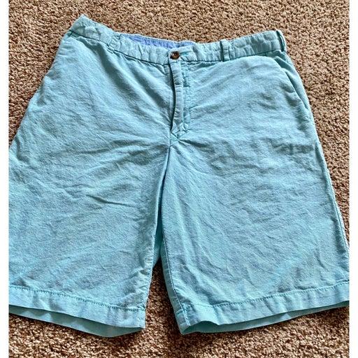 IZOD men 32 light blue chino shorts