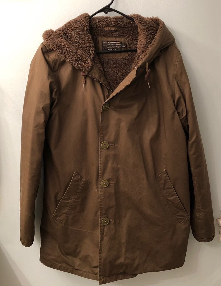 J.Crew Winter Jacket with Hood Mens Size