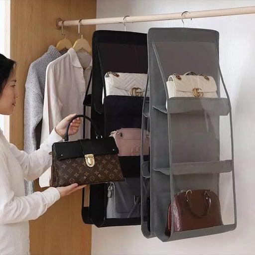 6 Pockets Hanging Handbag Organizer
