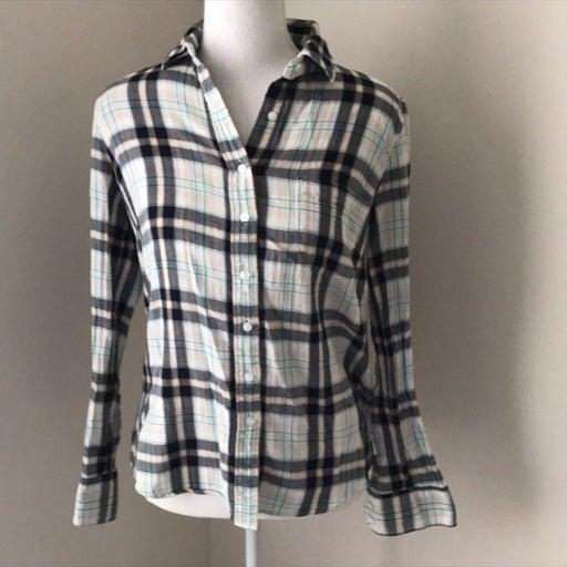 J. Crew Plaid Button Down Long Sleeve Shirt Small