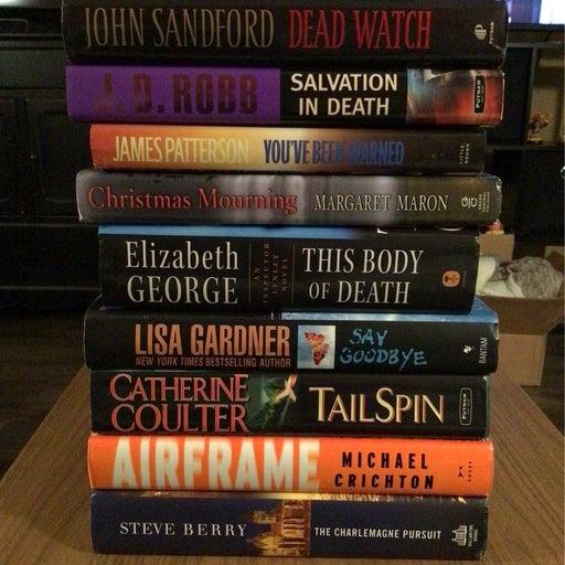 Lot of 9 Mystery Thriller Suspense Hardcover Novels
