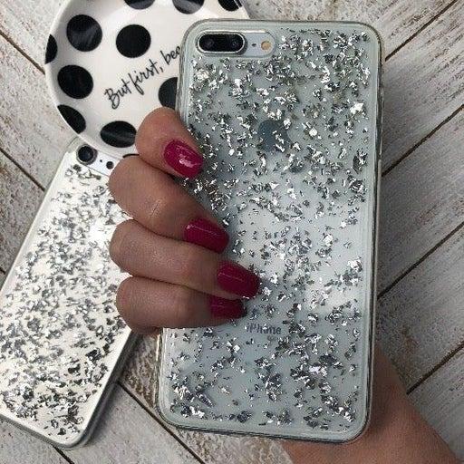 NEW iPhone 7P/8P Silver Glitter Case