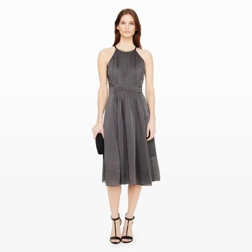 Club Monaco Dauphine Silk Dress In Gray