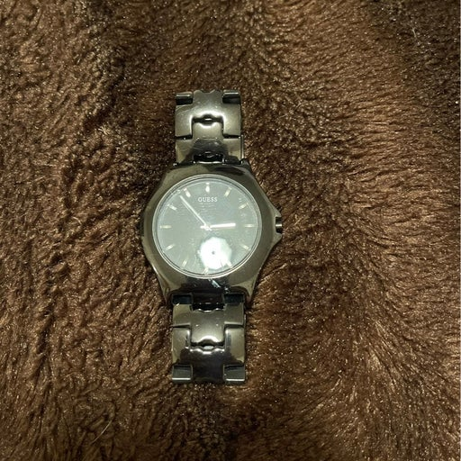 black guess watch for men