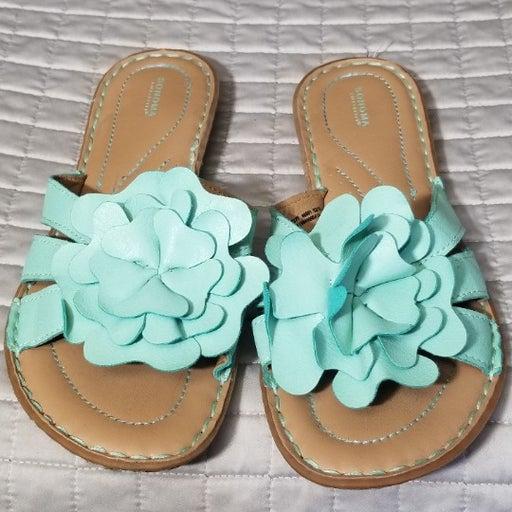 Sonoma Ladies sandals Teal Flower