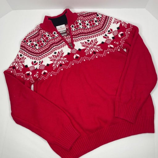 Hanna Andersson Boys Christmas Sweater Boys Nordic Sweater Size 160 - 14/16