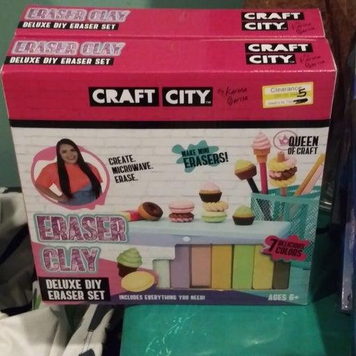 craft supplies make stuff out eraser cla