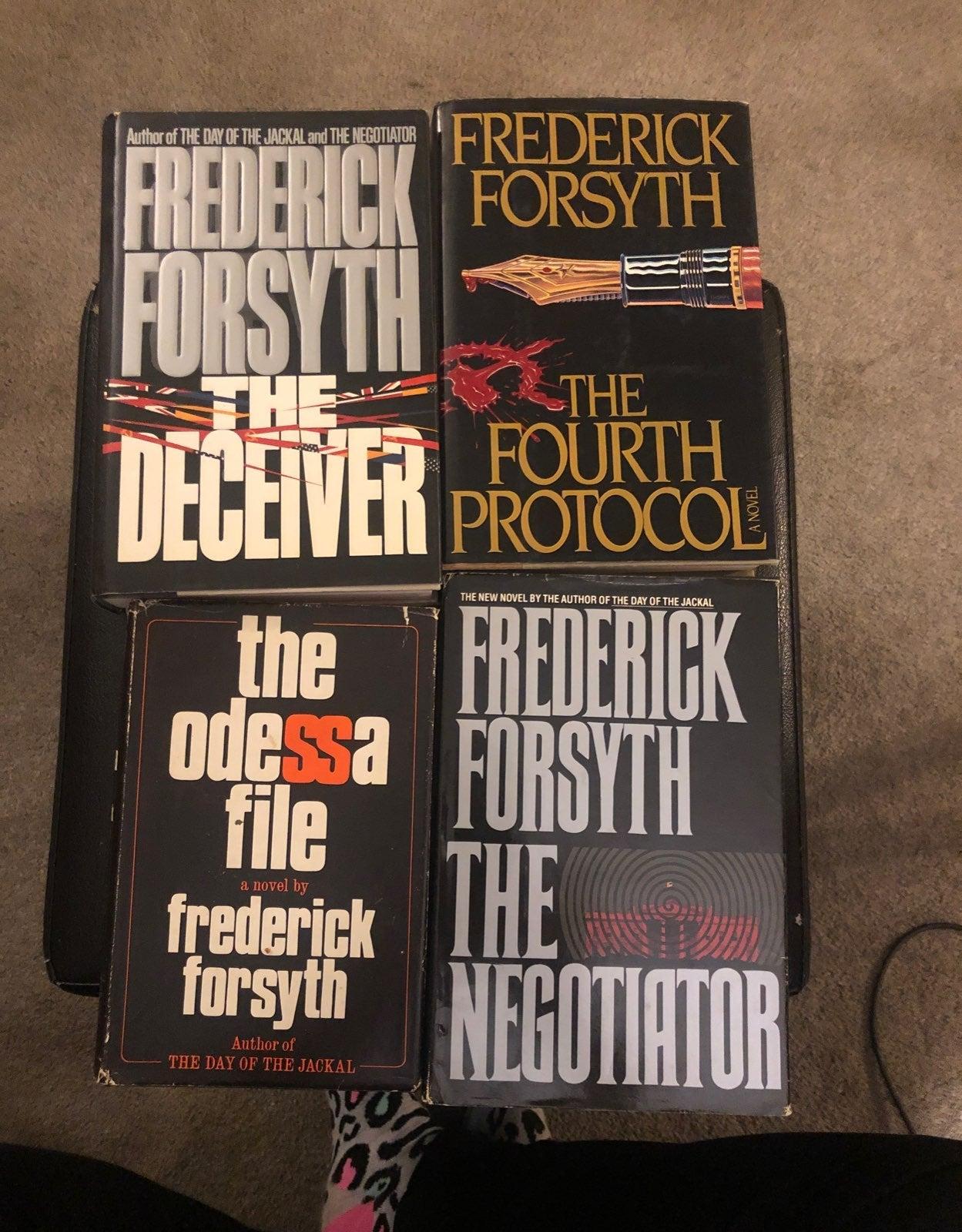 Frederick Forsyth hardcover books