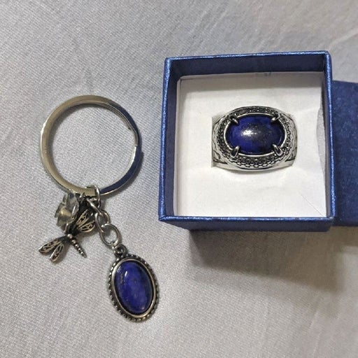 Lapis Lazuli Ring & Keychain