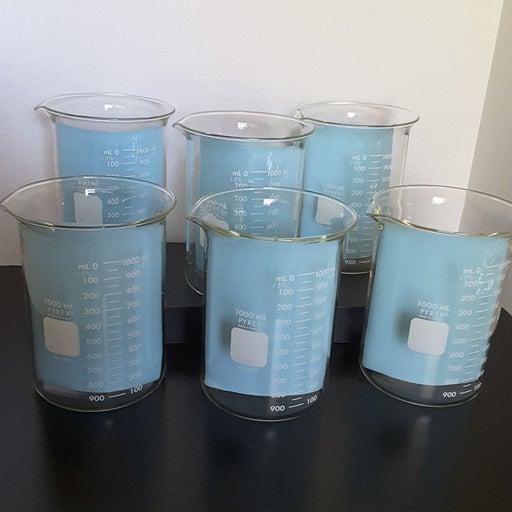 Pyrex 1000ml Glass Beaker Qty 2