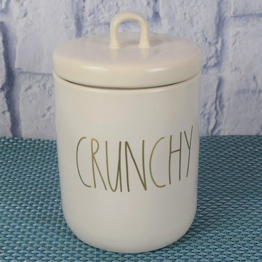 New Rae Dunn CRUNCHY Canister With Lid