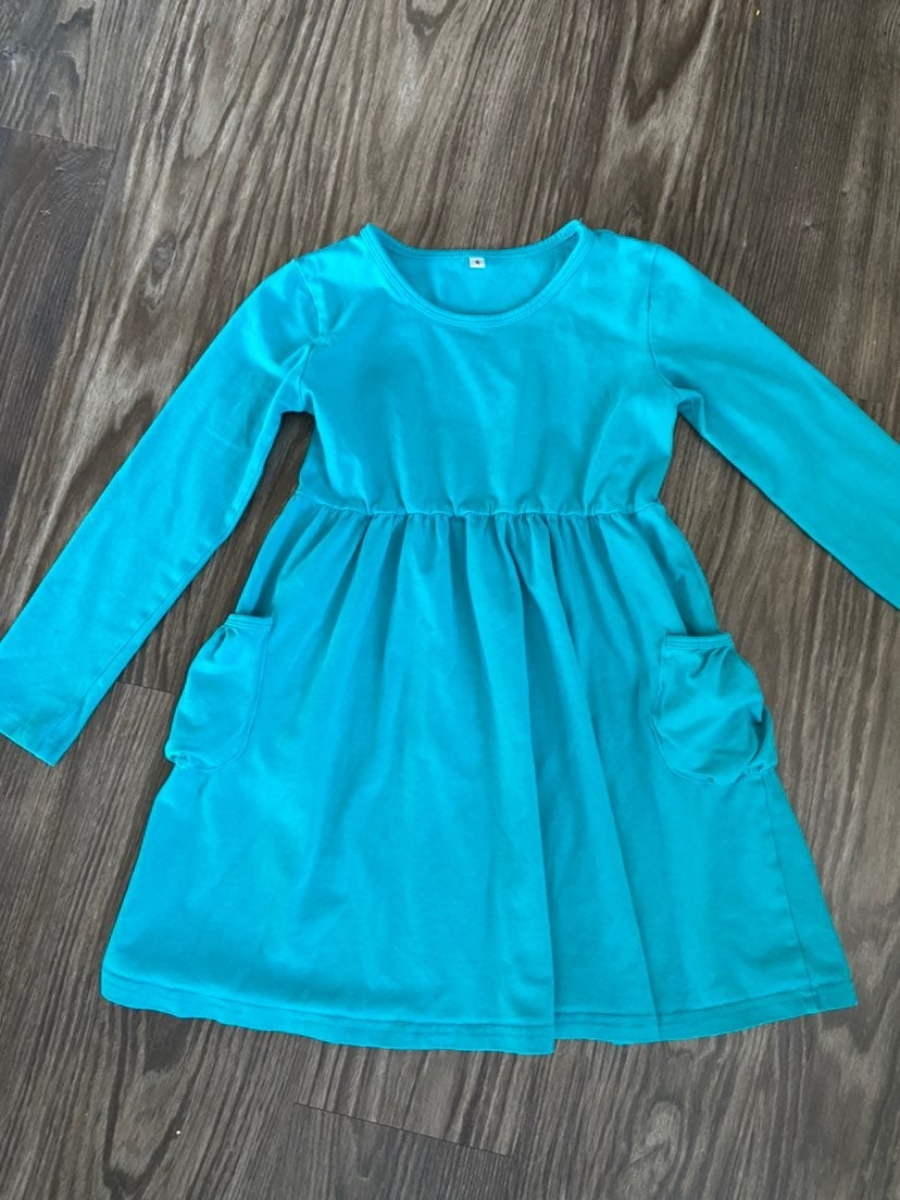 Girl's Teal Tunic - size 6