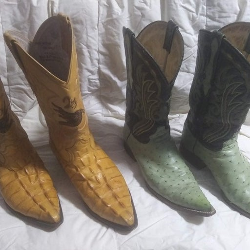 2) Exotic Animal Cowboy Boots