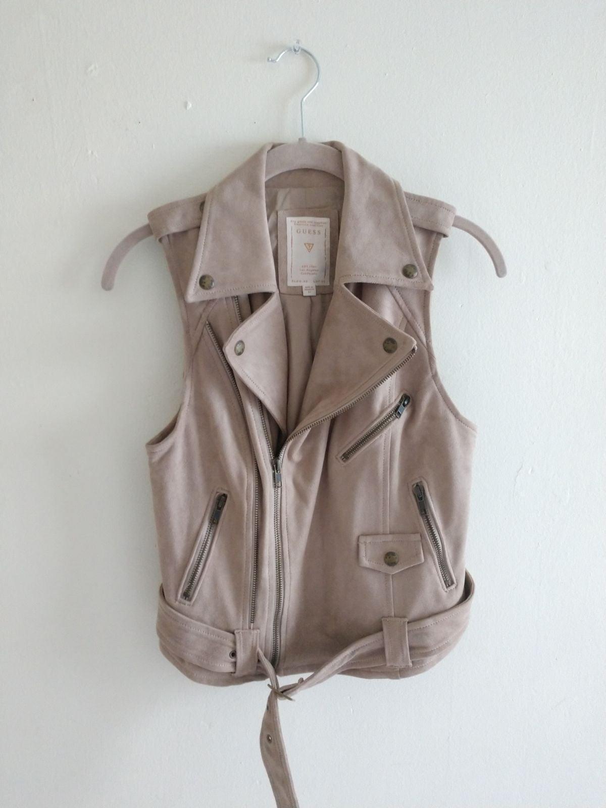 Guess Faux Leather Suede Vest