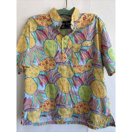 Chubbies The Nutter Mens Camp Shirt Pineapple Hawaiian 1/4 Button SS XL