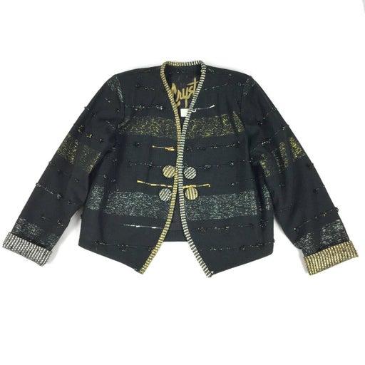 Vintage 1980s Crystal Striped Blazer