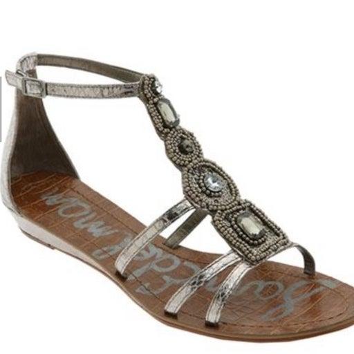 Sam Edelman Jeweled Gladiator Wedge Sandals