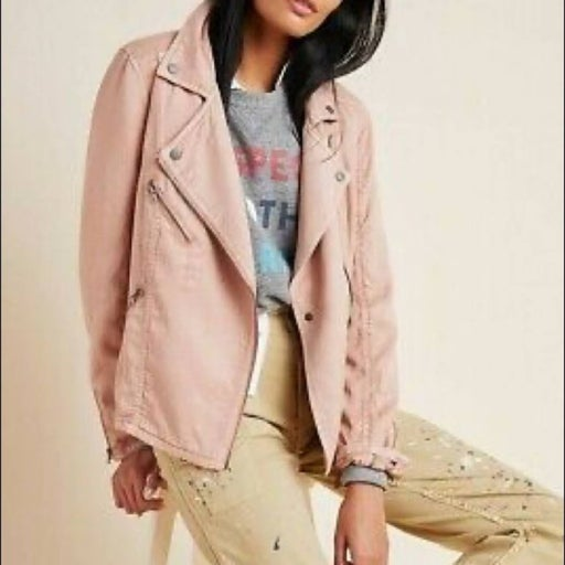 Anthropologie Pink Marrakech Moto Jacket