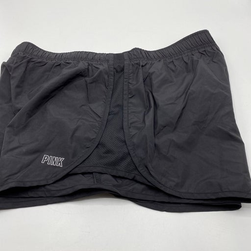 Victoria's Secret PINK Active Running Track Shorts Large Black