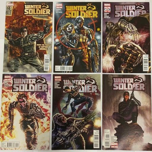 Winter Soldier Complete 19 Issue Series Set Ed Brubaker Guest Stars Black Widow