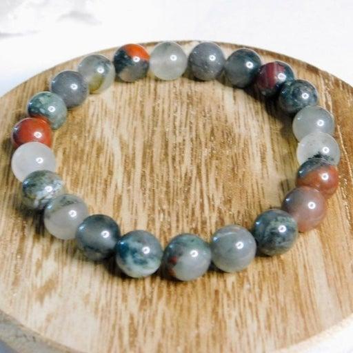 African Blood Stone Crystal Bracelet