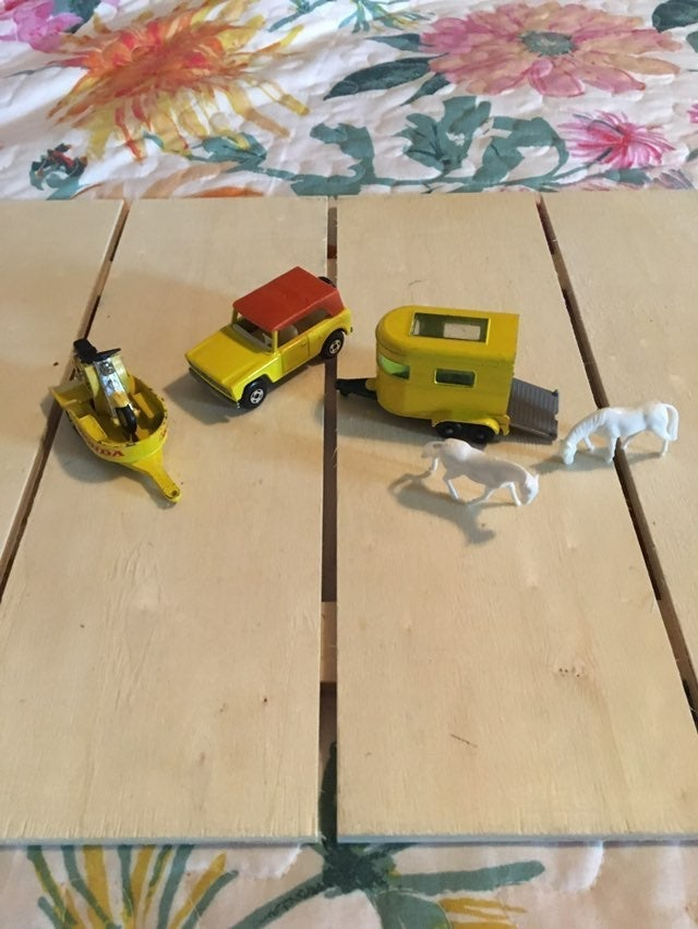 1969 Matchbox Field car trailer set Rare