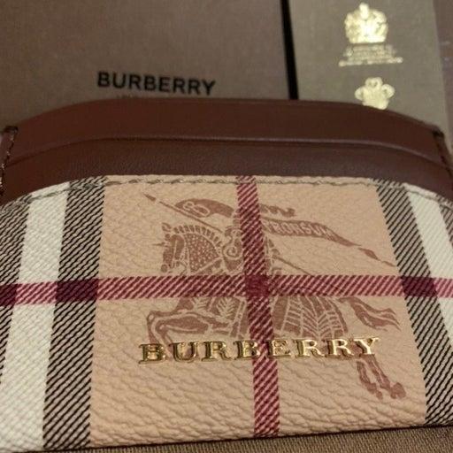 Burberry Haymarket Check E-canvas and Le