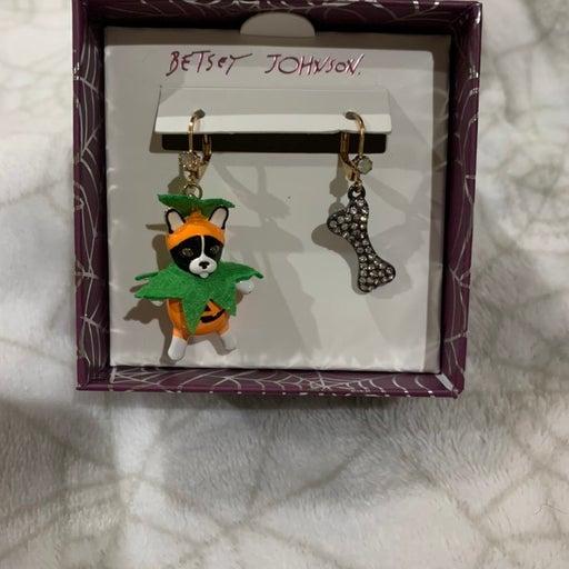 Betsey Johnson Dog Halloween Earrings
