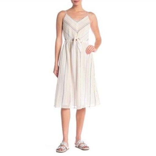 Michael stars beach stripe midi dress