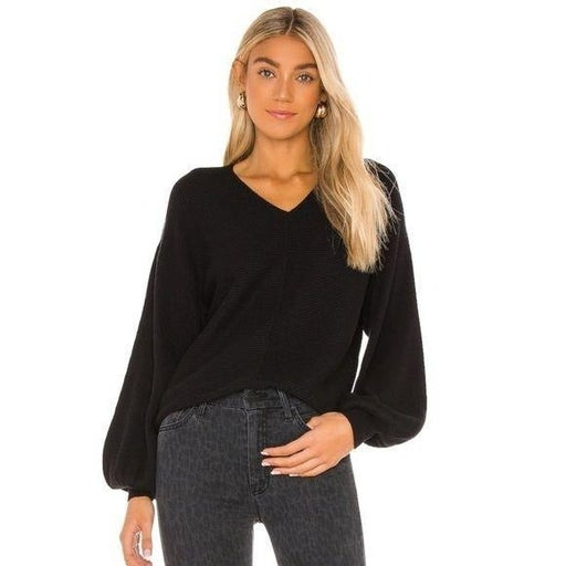 1.State Balloon Sleeve Sweater Black XXL