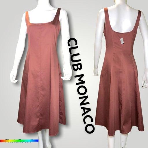 Club monaco  Wide Neck panel Dress cinnamon NWT