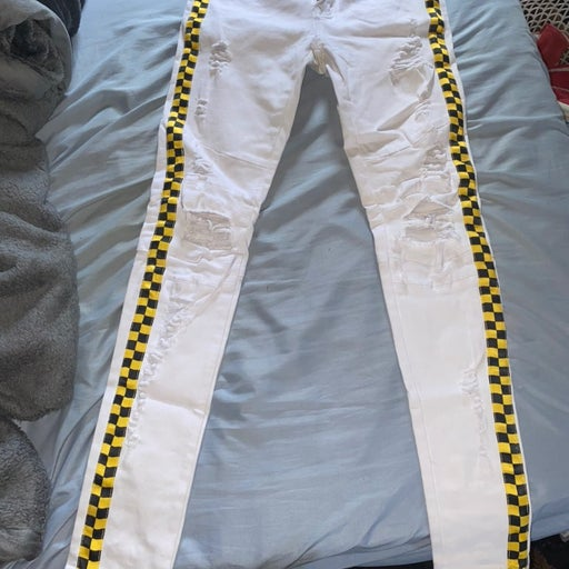 Custome white jeans