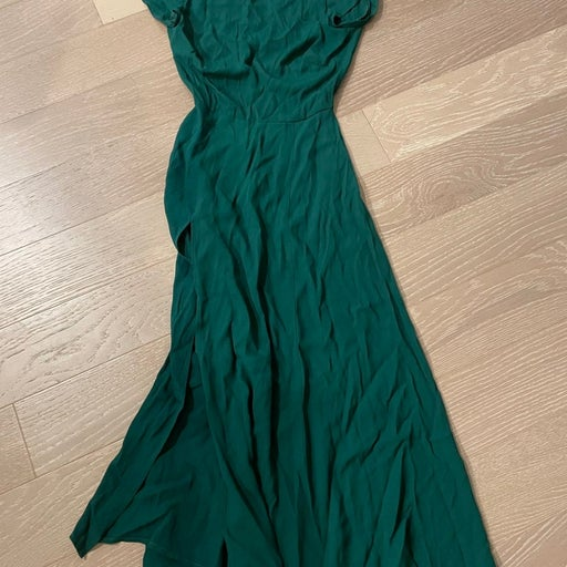 Reformation gavin emerald dress 0