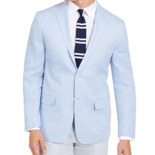 $295.00 Lauren Ralph Lauren Classic-Fit Linen Sport Coats, Light Blue, 46R