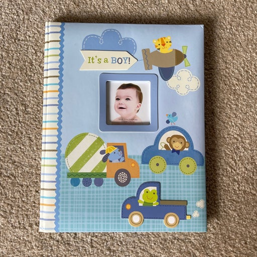It's A Boy! C.R. Gibson Stepping Stones Baby Memory Book For First Five Years