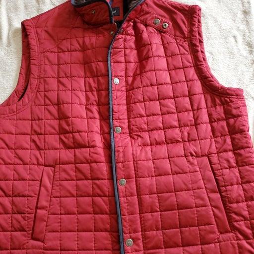 Mens XL CREMIEUX red full zip vest