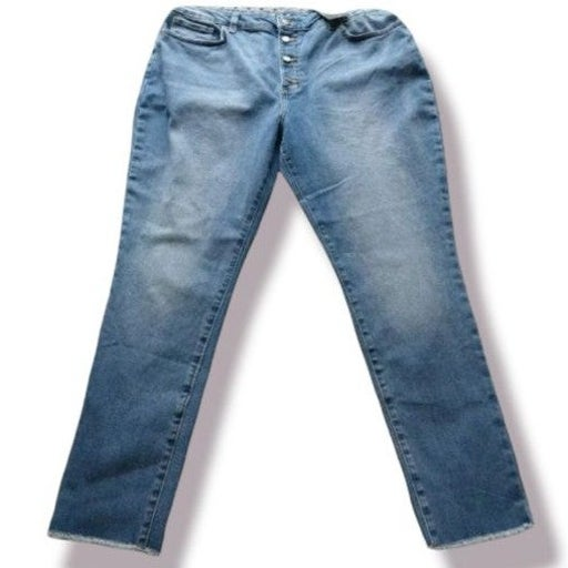 High Rise Button Fly Jeans Plus Size 20